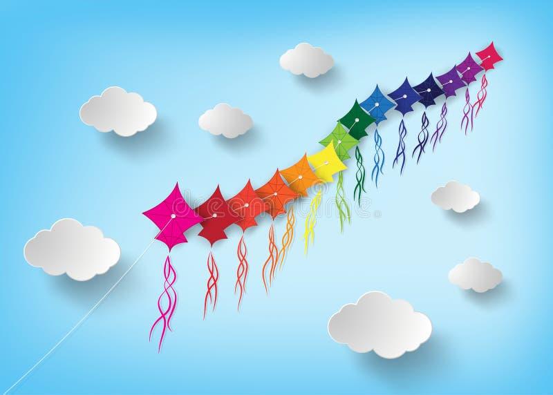 Kania na niebie royalty ilustracja