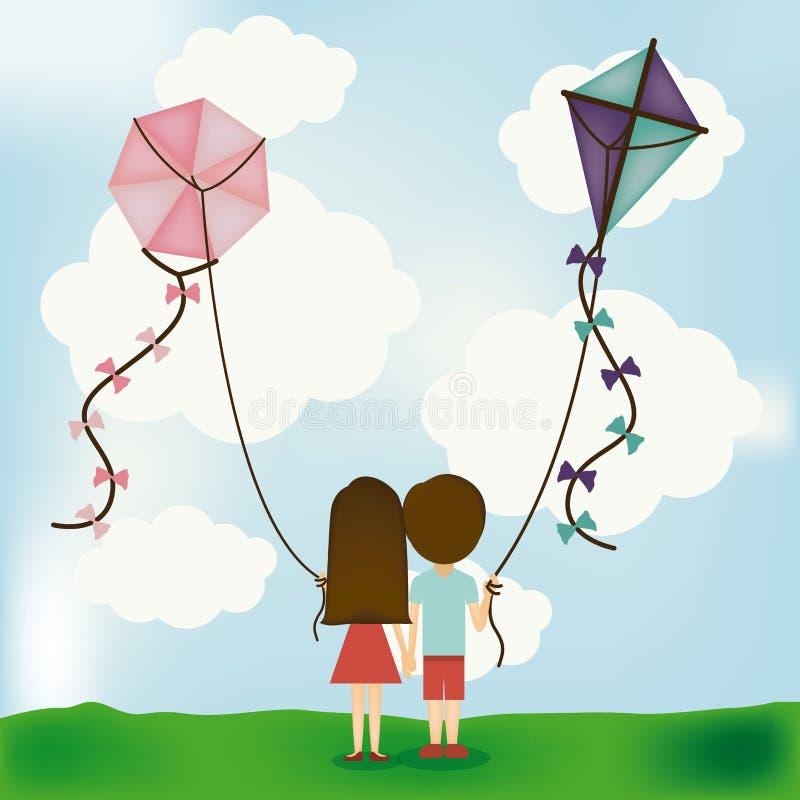 Download Kania projekt ilustracja wektor. Ilustracja złożonej z dzieciństwo - 41950113