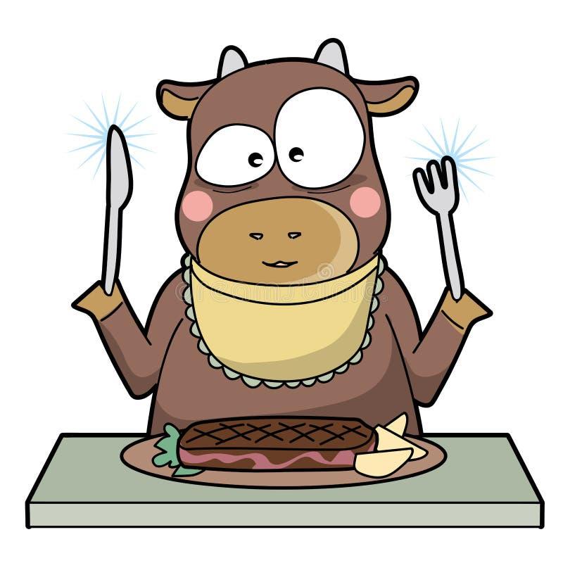 Kanibalizm - krowa - unikalny typ ilustracja wektor