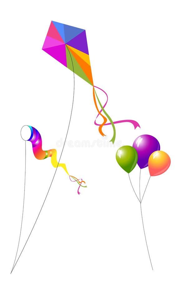 Kanie i balony ilustracji
