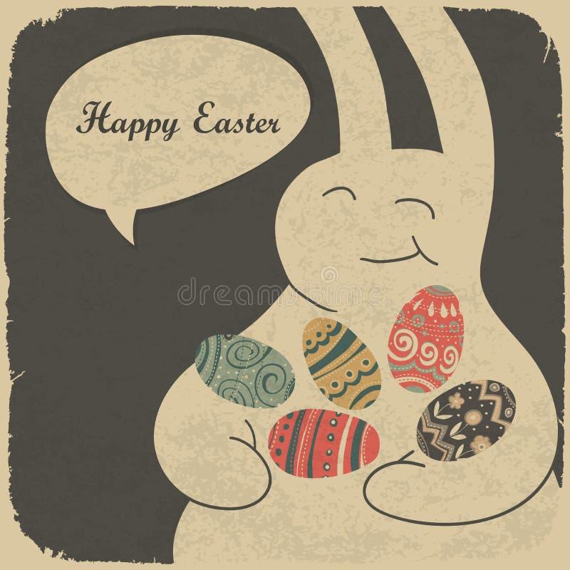 kanin för chokladeaster ägg stock illustrationer