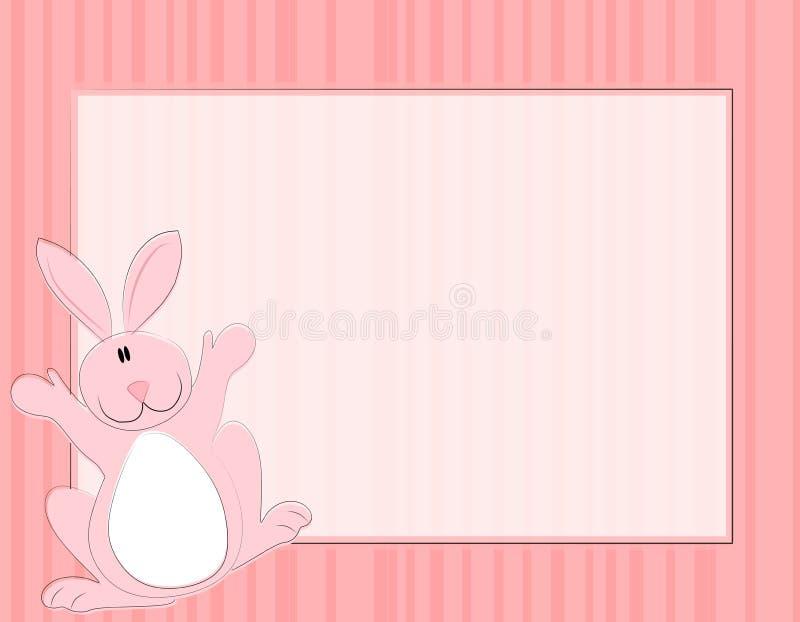 kanin för kanineaster ram royaltyfri illustrationer