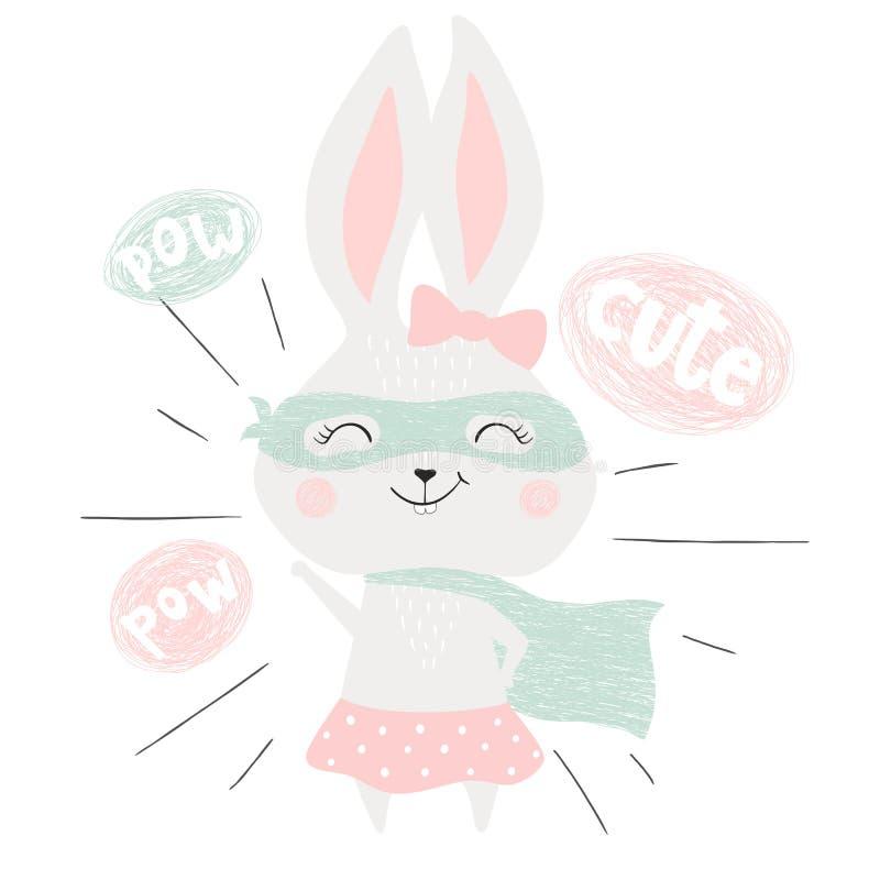 Kanin för toppen hjälte royaltyfri illustrationer