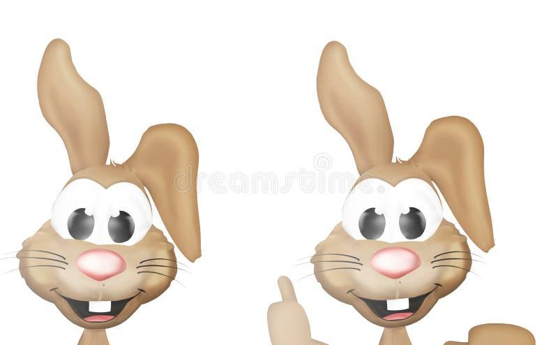 kanin lyckliga easter stock illustrationer