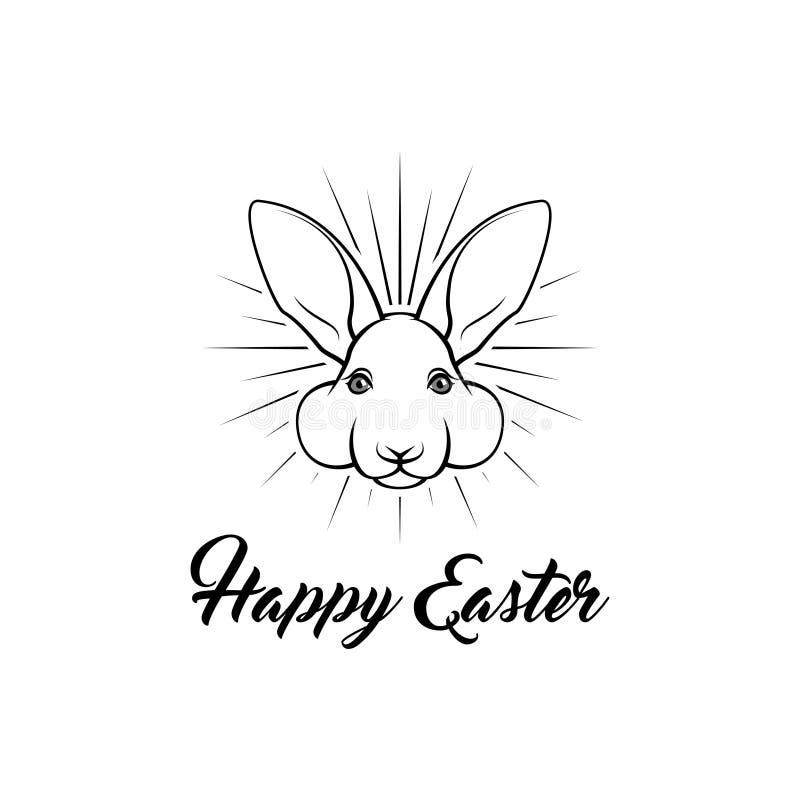 kanin lyckliga easter greeting lyckligt nytt år för 2007 kort Påskferiesymbol Kaninframsida vektor royaltyfri illustrationer
