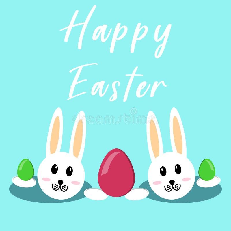 kanin lyckliga easter tillgänglig hälsning för korteaster eps mapp arkivfoto
