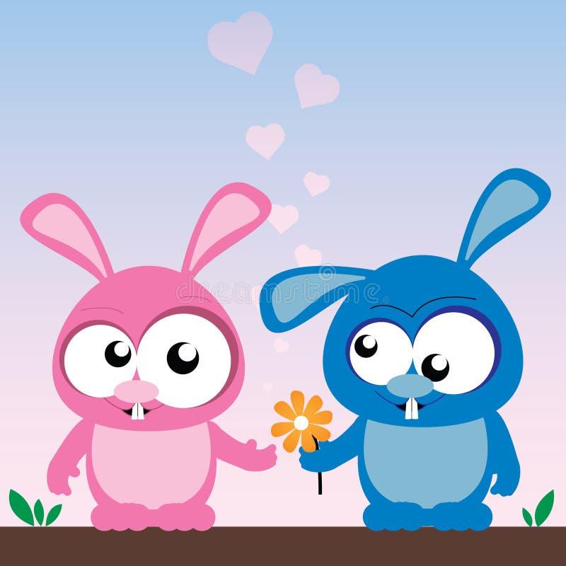 Kaninchen in der Liebe vektor abbildung