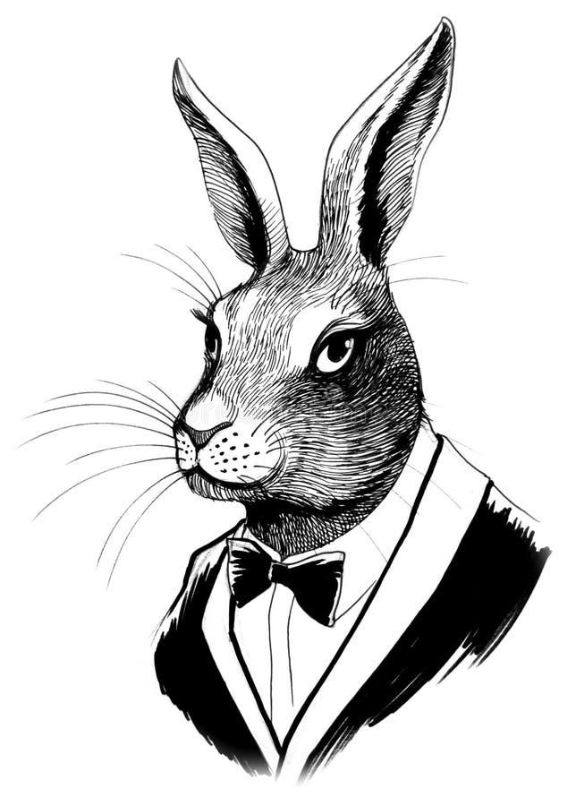 Kaninchen in einer Klage lizenzfreie abbildung