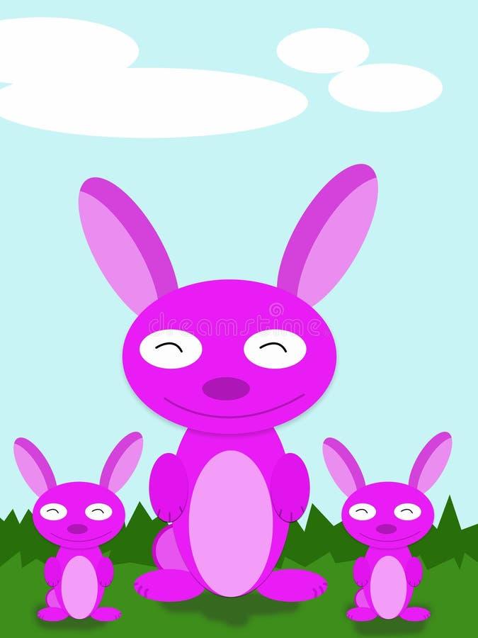 Kaninchen-Karikatur stockbild