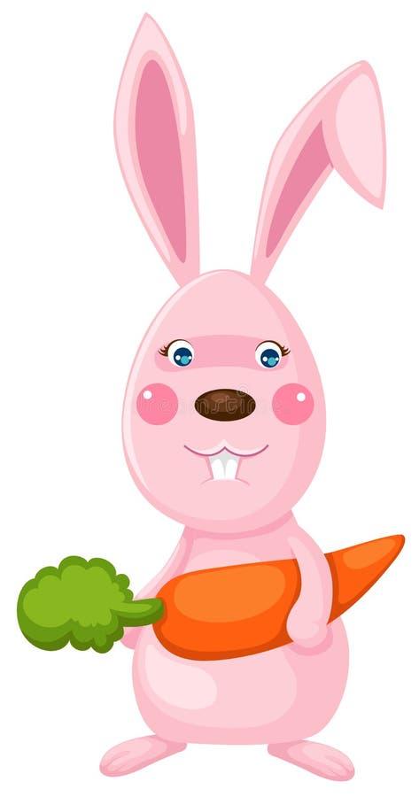Kaninchen mit Korb lizenzfreie abbildung