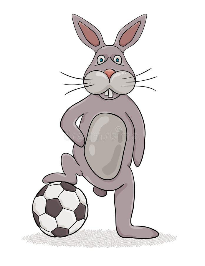 Kaninchen und Ball stock abbildung