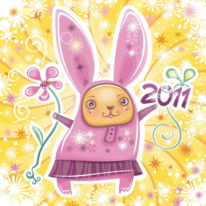 Kaninchenkartenserie 2 stock abbildung