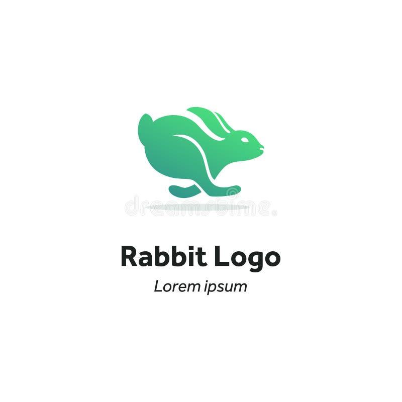 Kaninchenläufe, Logo vektor abbildung