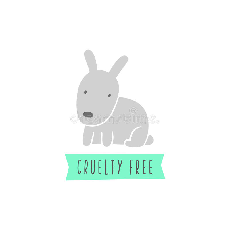 Kaninchenzeichen Grausamkeit geben frei vegan lizenzfreie abbildung
