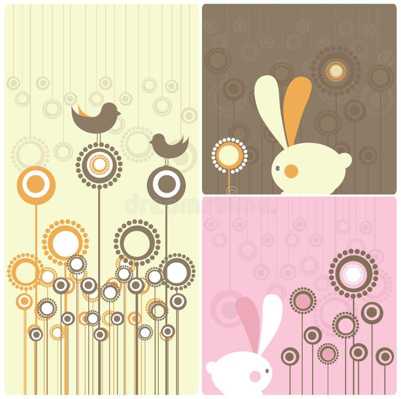kaniner easter stock illustrationer