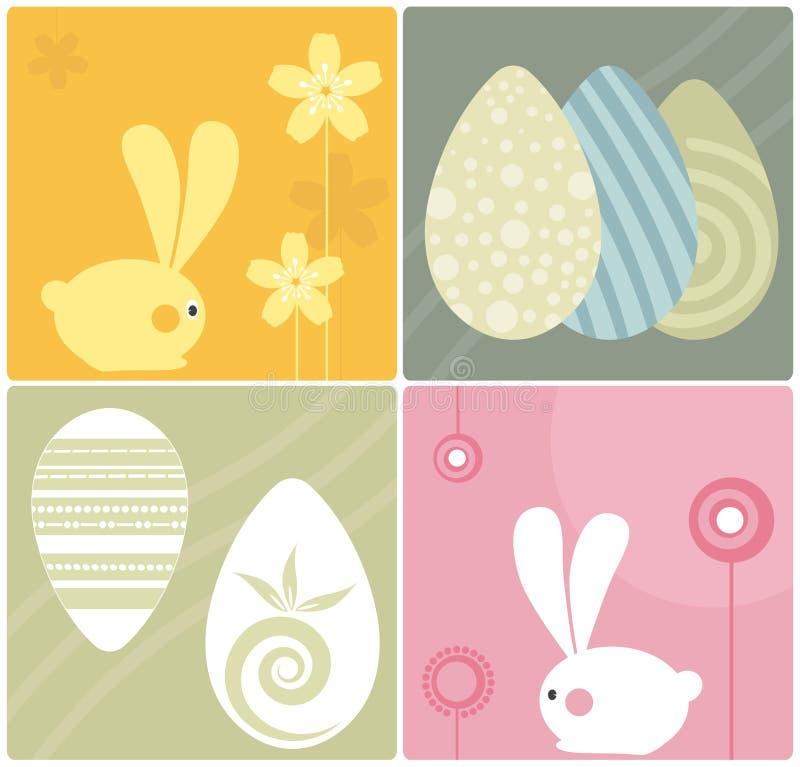 kaniner easter vektor illustrationer