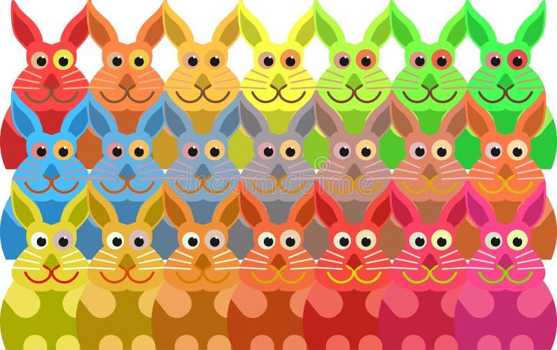 Kaninfolkmassa vektor illustrationer