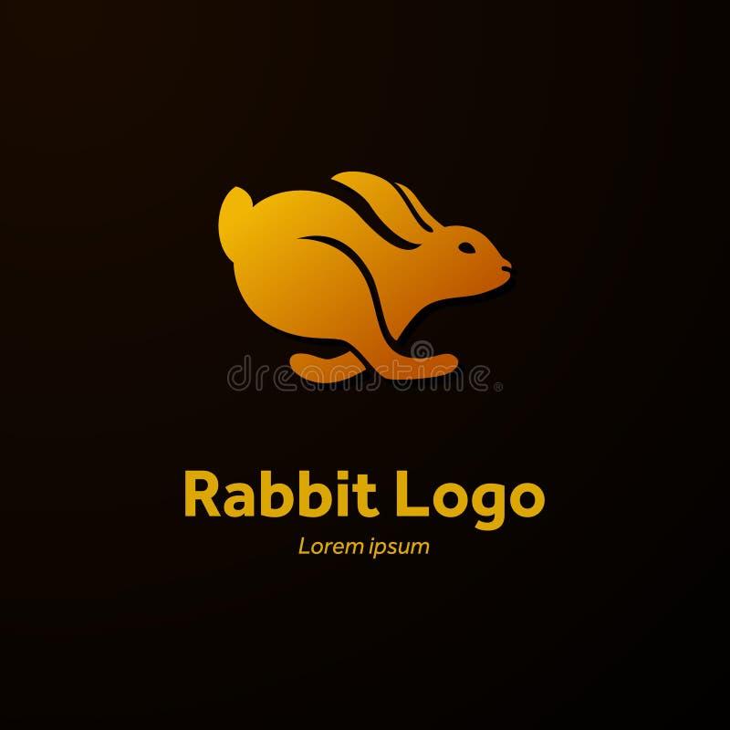 Kaninkörningar, logo stock illustrationer