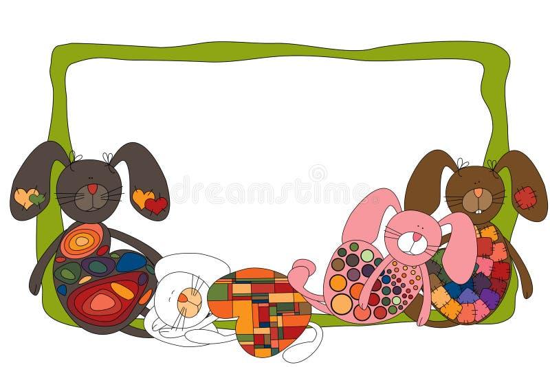 Kaninram stock illustrationer