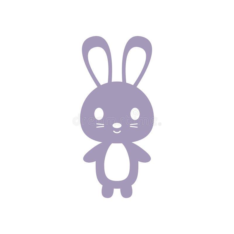 Kaninsymbol vektor illustrationer