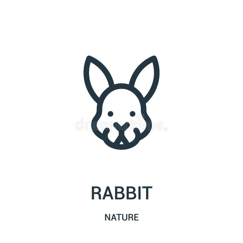 kaninsymbolsvektor från natursamling Tunn linje illustration för vektor för kaninöversiktssymbol Linjärt symbol för bruk på rengö royaltyfri illustrationer