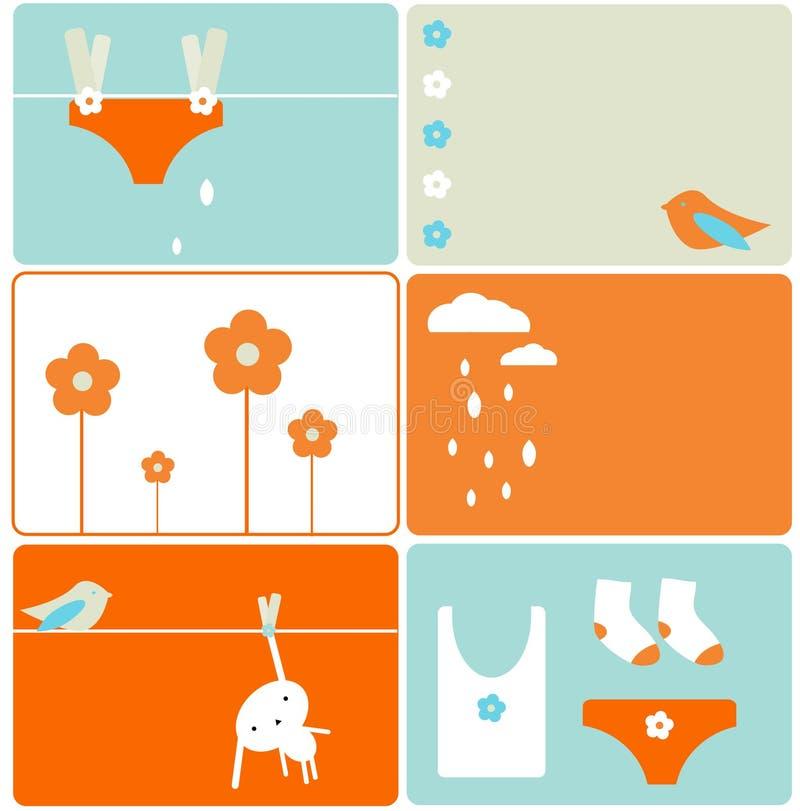 kanintvätteri stock illustrationer