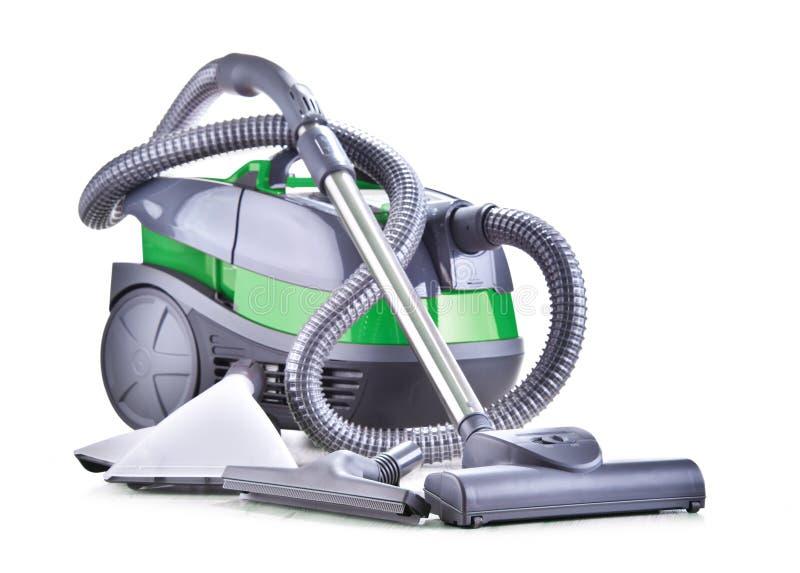 Kanisteru próżniowy cleaner dla domowego use odizolowywającego na bielu obraz stock