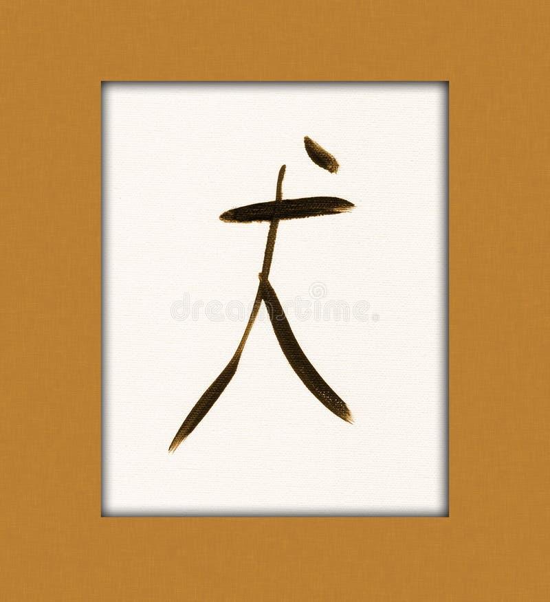 Kanji del perro ilustración del vector