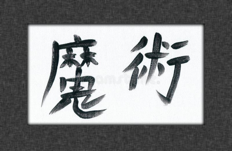 Kanji mágico stock de ilustración