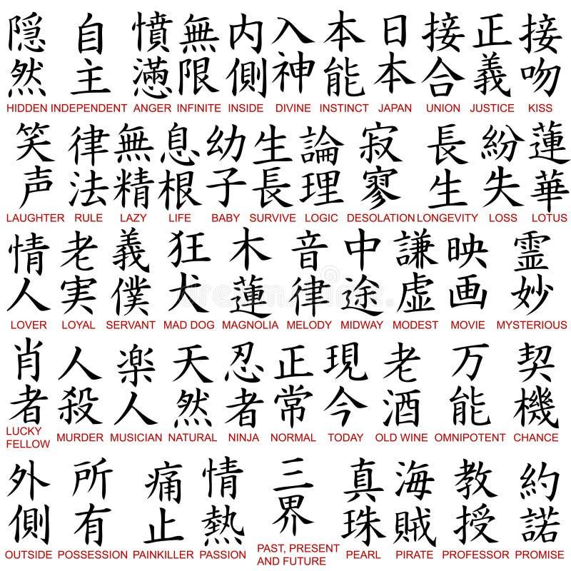Kanji Symbols Stock Vector Illustration Of Asian Font 13316062