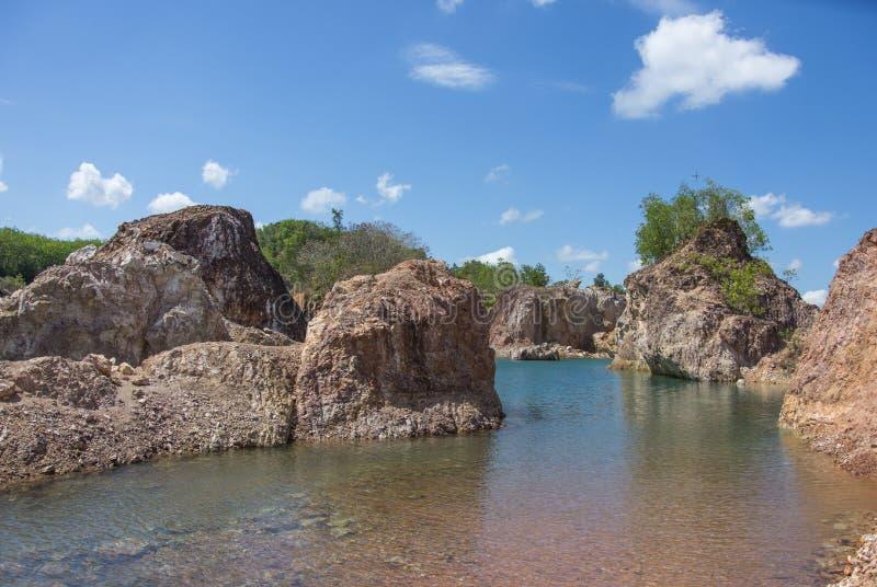 Kanjon av Phatthalung Thailand arkivfoton