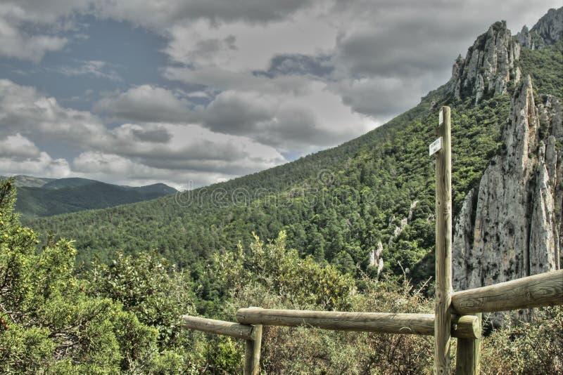 Kanjon av Pierre Lys i Pyrenees, Frankrike royaltyfria bilder