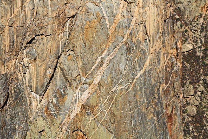 Kanjon för bakgrundstextursvart av Gunnisonen på svalgsikten arkivbilder