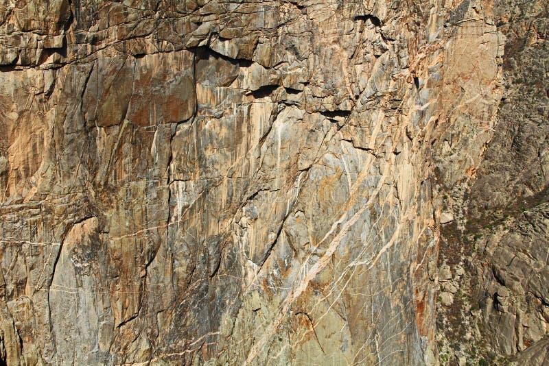 Kanjon för bakgrundstextursvart av Gunnisonen på svalgsikten royaltyfri fotografi