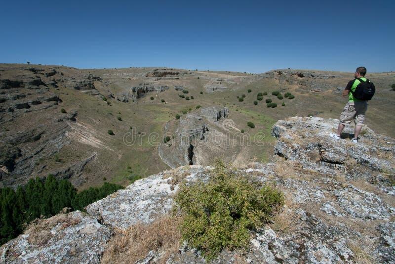 Kanjon i Hocesen del Duraton, Segovia royaltyfri foto