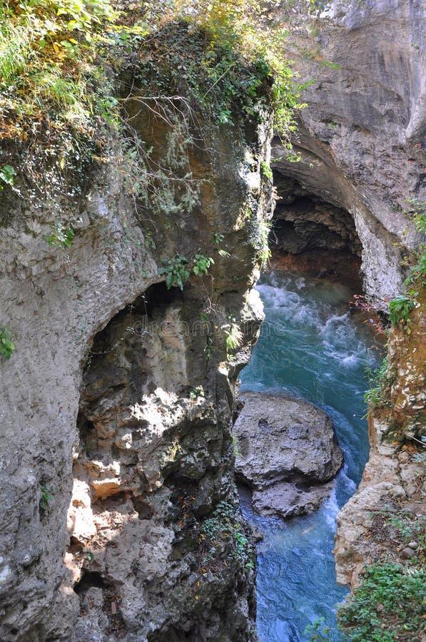 kanjon Khadzhokh republiken av Adygea, Ryssland royaltyfri foto