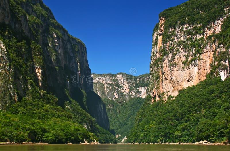 Kanjon Sumidero arkivfoton