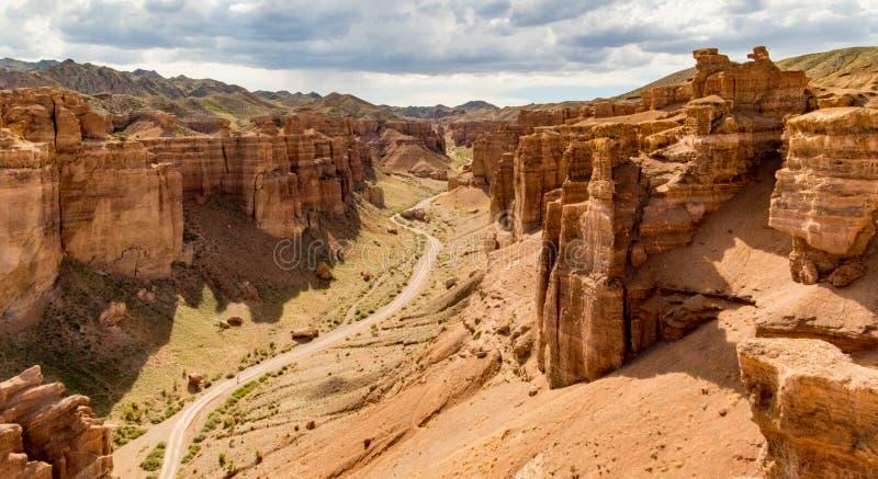 kanjoncharyn kazakhstan royaltyfri foto