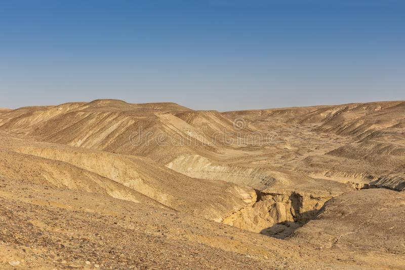 Kanjoner av den Namibe öknen _ _ arkivfoto