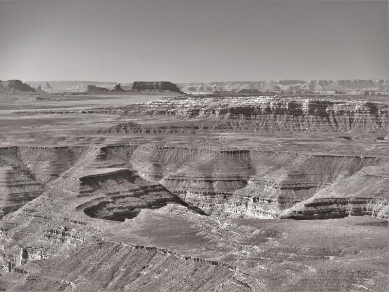 Kanjoner av Utah från Muley punkt royaltyfria foton