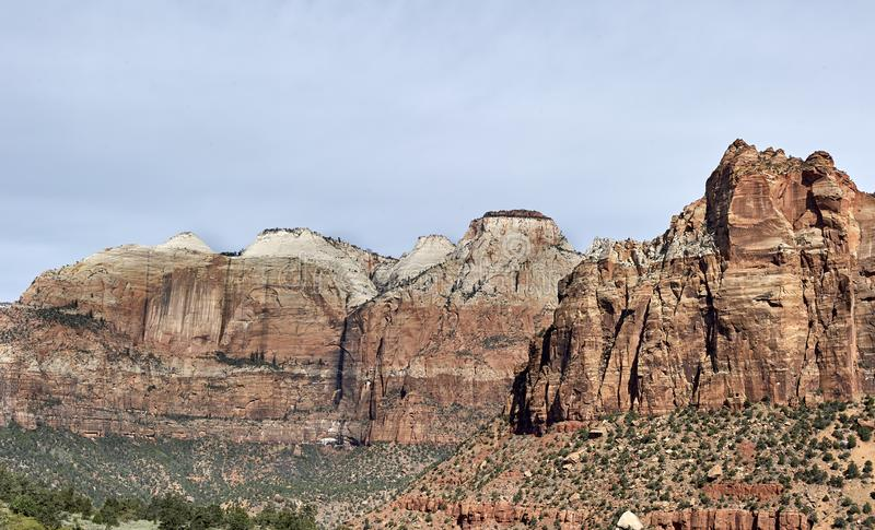 Kanjoner i Utah arkivfoto