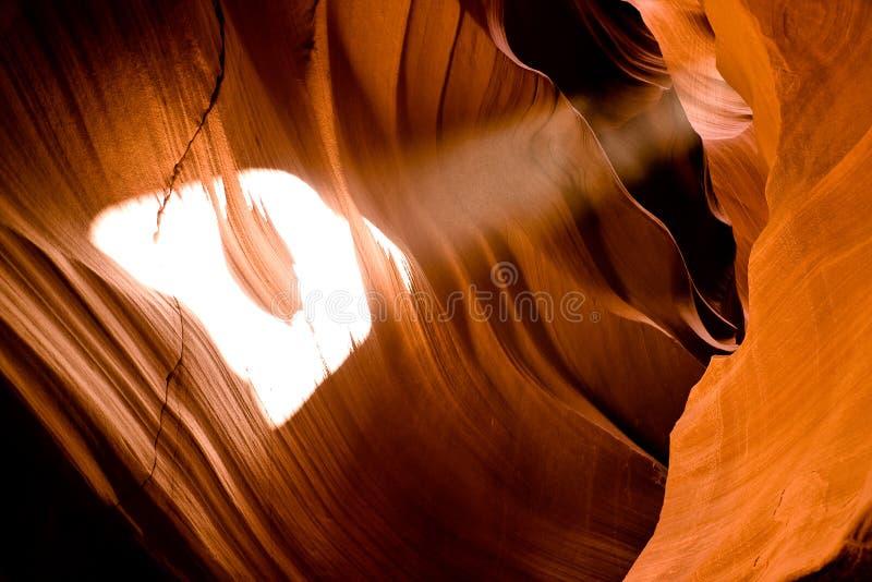 kanjonlampa som skiner royaltyfria foton