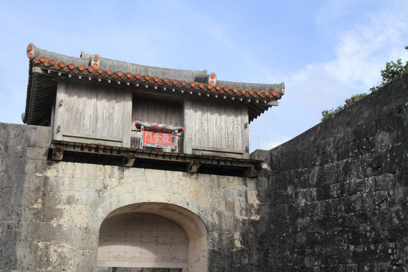 Kankaimon al castello di Shuri fotografie stock
