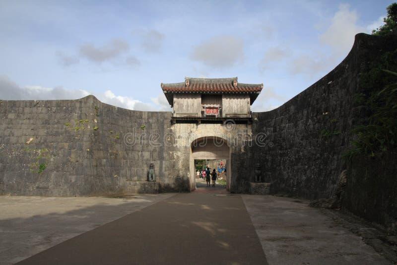 Kankaimon an Shuri-Schloss stockbild