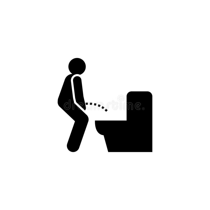 Kanker, ziekte, stroom, prostate pictogram Element van kankerpictogram Grafisch het ontwerppictogram van de premiekwaliteit teken stock illustratie