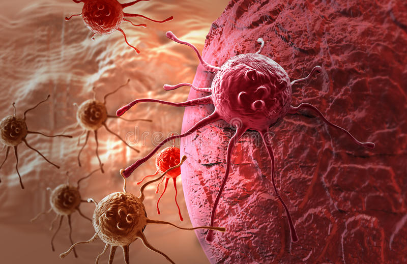 Kankercel royalty-vrije illustratie