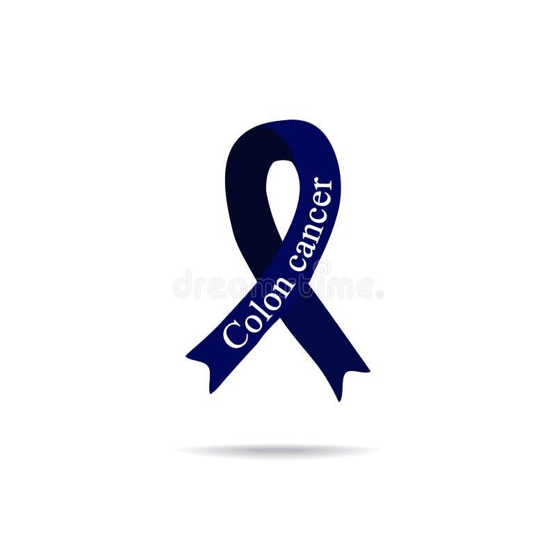Kankerlint Dubbelpuntkanker Internationale Dag van kanker De dag van wereldkanker Vectorillustratie op geïsoleerde achtergrond stock illustratie