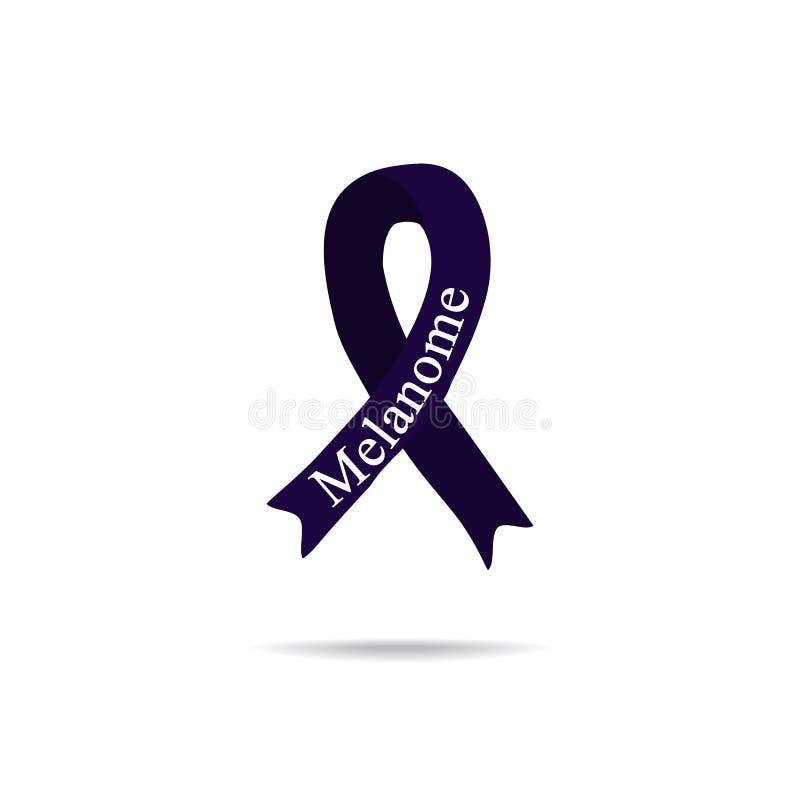 Kankerlint melanoma Internationale Dag van kanker De dag van wereldkanker Vectorillustratie op geïsoleerde achtergrond vector illustratie