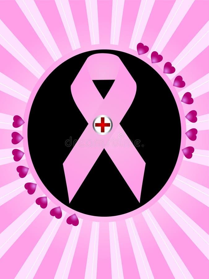 Kankersymbool van de borst vector illustratie