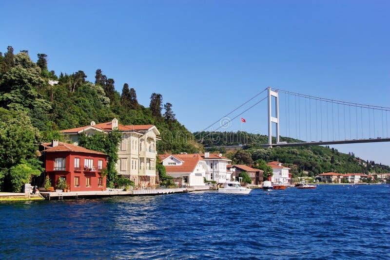 Kanlica Küste auf Bosporus lizenzfreie stockfotos